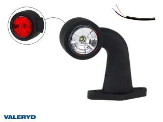 LED Breddmarkeringslykta Valeryd 130x150x45 vit/röd 12-30V inkl. 400 mm kabel höger