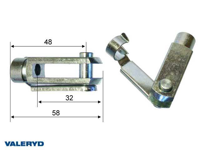 Gaffelhuvud M8, CC=48mm, total längd=58mm, 2-pack