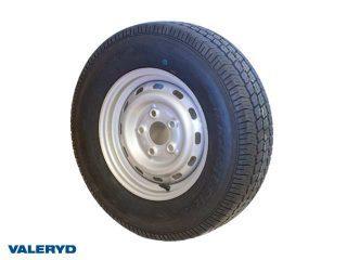 Hjul 165/80R13 Fälg 5x13 Bultcirkel 5x112 Centrumhål 67mm Offset +30 Silver Max 535 kg
