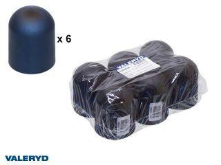 Kulskydd 50mm mjuk svart (6-pack)