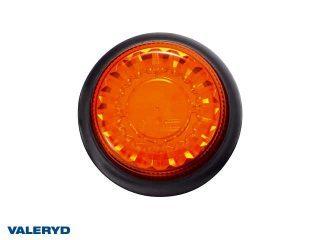 LED Varningslampa gul. Skruvmontering. Kabel 1,5m